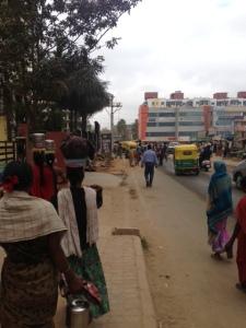 Walking to my class in Bengaluru (Bangalore)